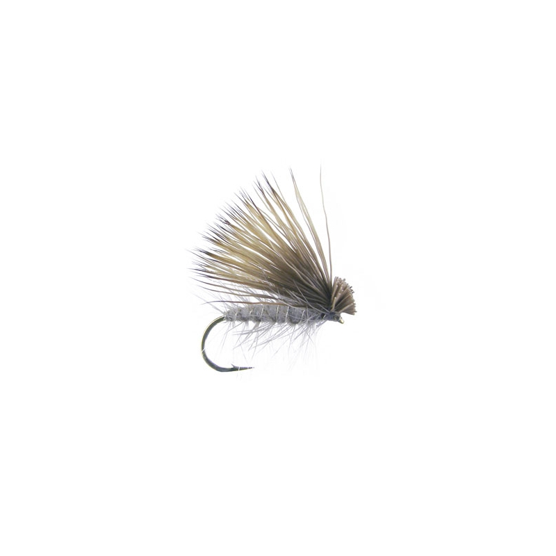 Elk Hair Caddis Grau Haken 14