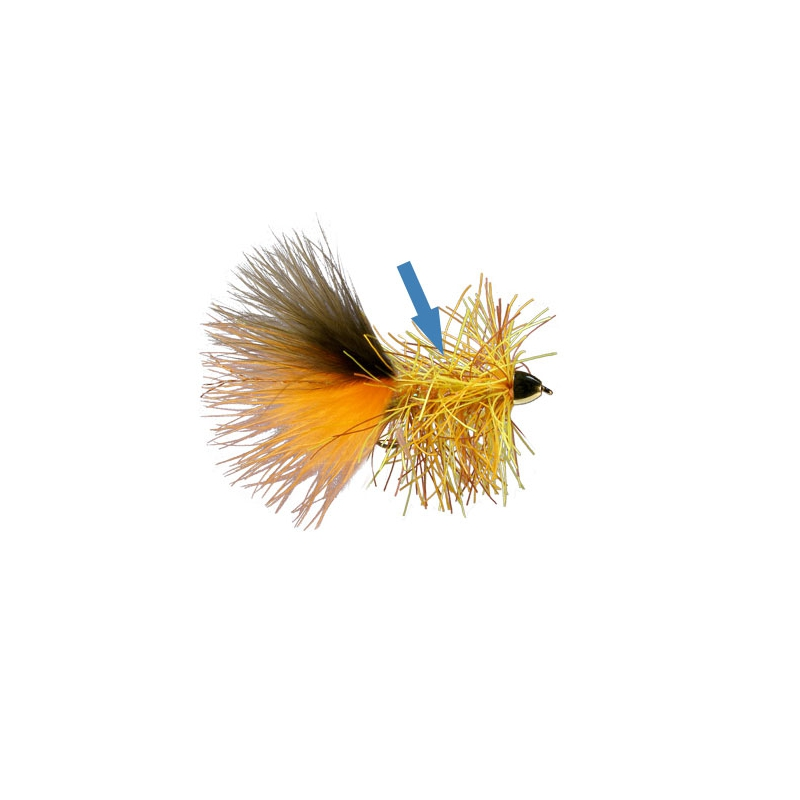 MFC Rubber Bugger Hackle