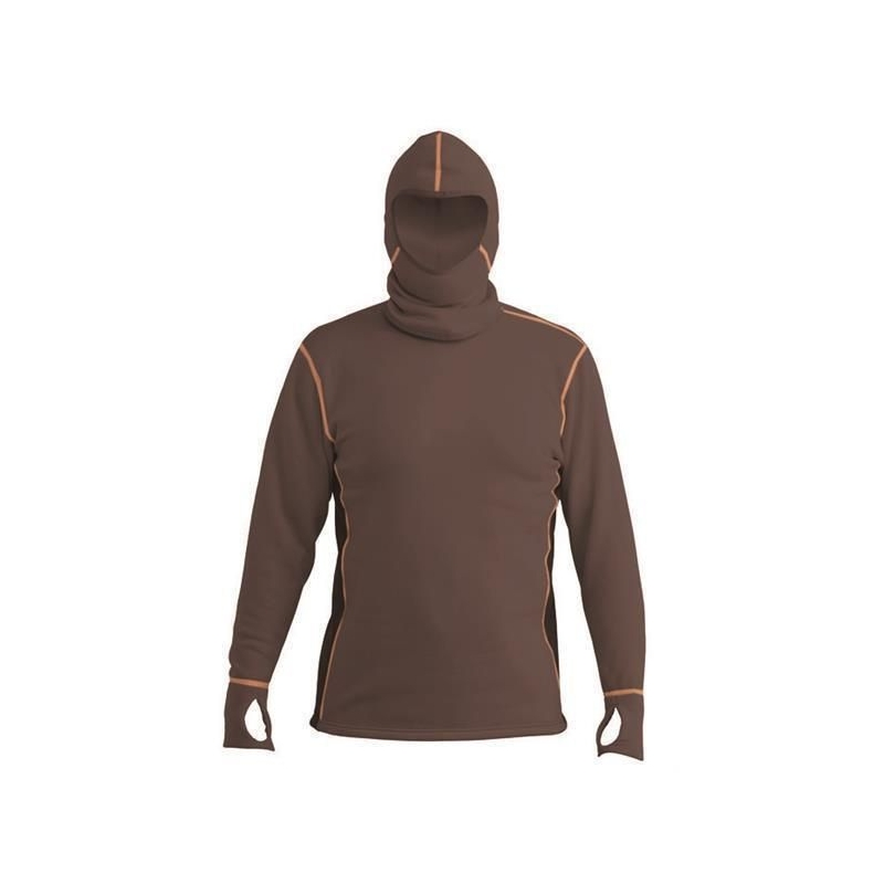 Power Hoodie Top Brown