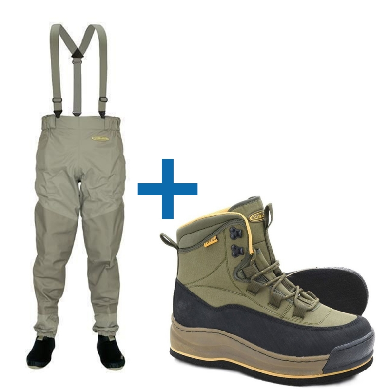 Vision Set Waders  Ikon Guiding and Keeper wading shoe felt sohle