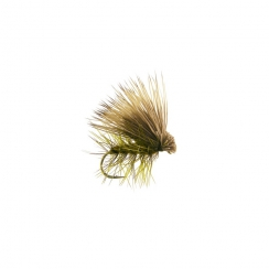 Elk Hair Caddis Olive Haken 14
