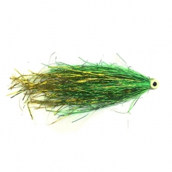 Hechtstreamer Tube Bauers UV Green & Gold
