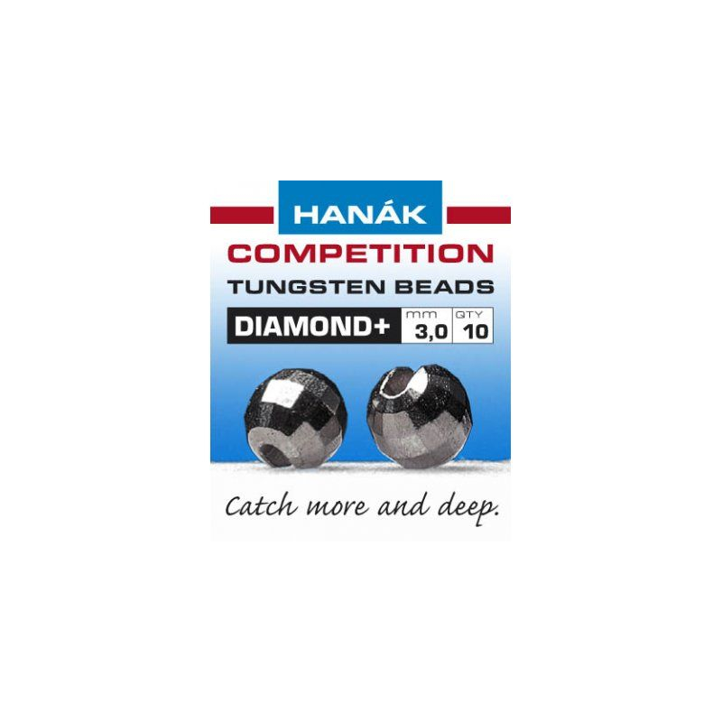 Hanak Tungsten Beads Diamond+ Black Nickel
