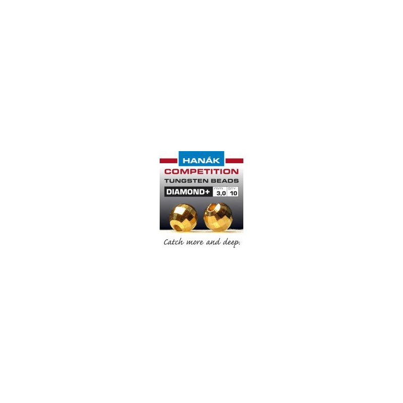 Hanak Tungsten Beads Diamond+ Gold