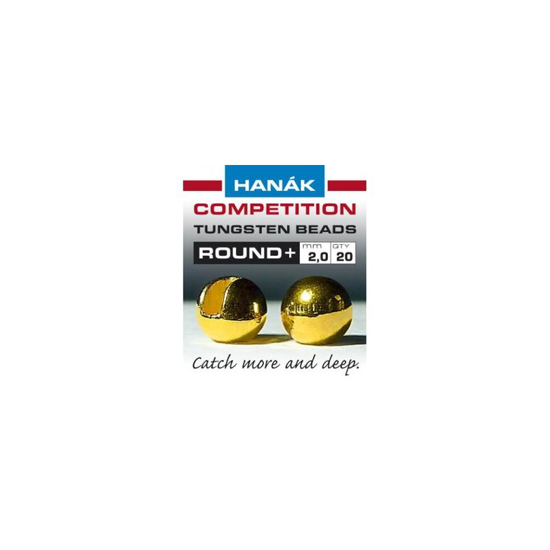 Hanak Tungsten Beads Round+ Gold